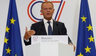 Brexit: Donald Tusk and Boris Johnson clash over who is 'Mr No Deal'