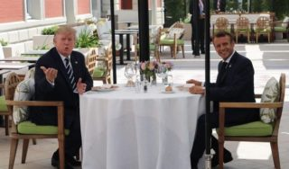 Trump attends dinner at G-7 summit after days of bashing allies
