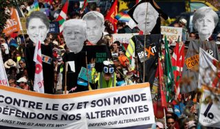 Watch again: Anti-G7 protests in Hendaye near France-Spanish border