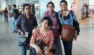 India disability activist 'told to remove trousers' by airport security
