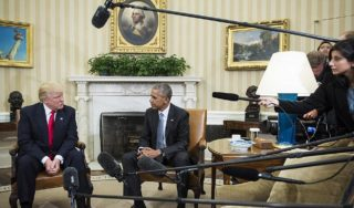 Obama called Trump a 'fascist' during phone call, Sen. Kaine says in new Clinton film