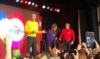 Wiggles member collapses on stage during benefit