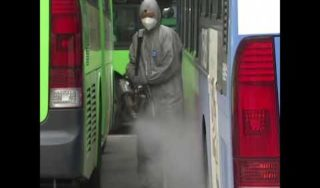 Officials fumigate hundreds of buses amid coronavirus cases in South Korea | ABC News