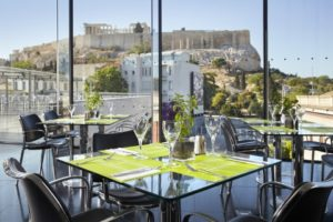 Tsiknopempti at the Acropolis Museum restaurant