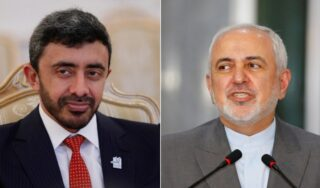In rare talks, Iran and UAE foreign ministers discuss COVID-19