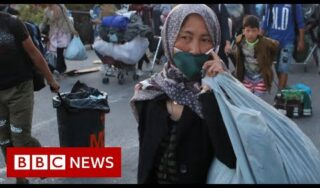 Lesbos: Greek police move migrants to new camp after Moria fire – BBC News