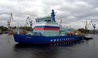 "Russia touts nuclear-powered icebreaker as proof ""the Arctic is ours"""