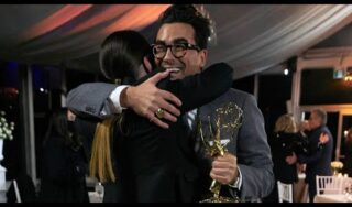 Schitt's Creek stars basking in Emmy wins