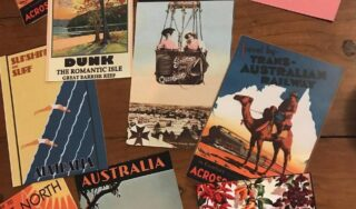 The female travel community exchanging postcards to explore the world