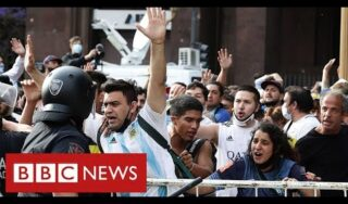 Maradona: chaotic scenes as thousands pay respects in Buenos Aires – BBC News