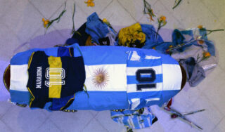 'The greatest': Thousands of Argentinians say goodbye to Maradona