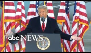 Donald Trump's final remarks as president