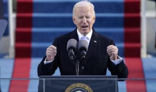 Joe Biden implores Americans to unite in first speech as US president