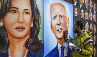 Photos: Indians root for Kamala Harris, next US vice president