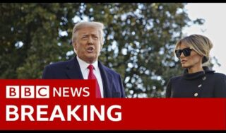 Trump leaves White House for last time as president – BBC News
