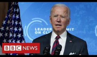 President Biden pledges 50% cut in US carbon emissions at global climate summit – BBC News