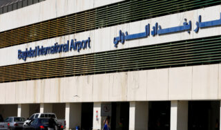 Rockets target Baghdad airport base housing US troops