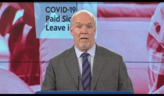 B.C. to offer 3 paid sick days for COVID-19
