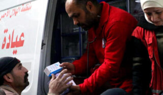 Doctors in Afrin, Syria, struggle to cope with victims in onslaught of airstrikes