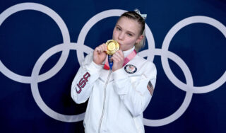 Jade Carey secures gold in floor exercise at Tokyo Olympics