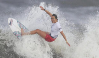 Professional surfer and Team USA Olympic gold medalist Carissa Moore on historic win for women