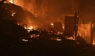 Fire breaks out at Greece's Samos migrant camp, forcing evacuation of 550 people