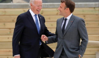 """French president to talk to Biden amid """"grave crisis"""" over submarines"""
