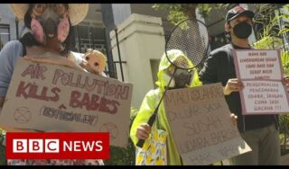 Indonesian residents sue the government over air quality and win – BBC News