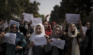 Taliban tells women and girls to stay home from work and school