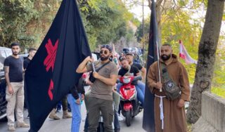 Lebanese Forces supporters protest party leader's summoning