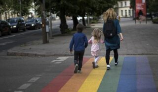 Vilnius and police in row over whether to keep LGBT rainbow crossing